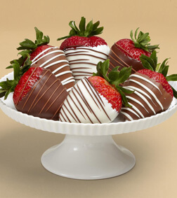 Swizzled Berries - 6 Dipped Strawberries