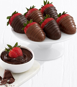Sinful Creation -6 Chocolate Dipped Strawberries