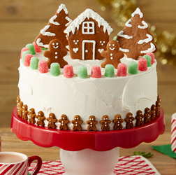 Gingerbread Town Christmas Cake