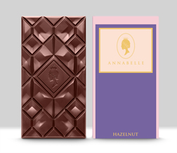 Large Hazelnut Chocolate Bar By Annabelle