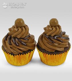 Two Mocha Cupcakes