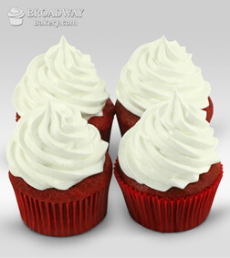 Red Velvet Addiction - 4 Cupcakes