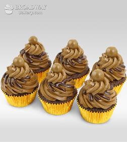 Six Mocha Cupcakes