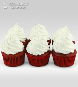 Red Velvet Addiction - 6 Cupcakes
