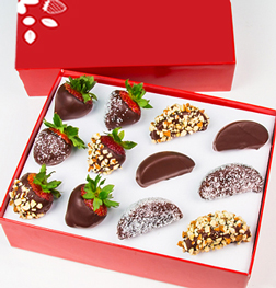 Chocolate Dipped Apples and Strawberries - Mixed Toppings Box