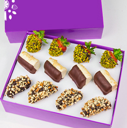 Nut Lover's Dipped Fruit Trio