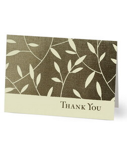 Leafy Thank You Card