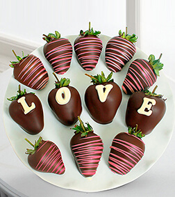 Chocolate Dipped Love Berry Gram Strawberries