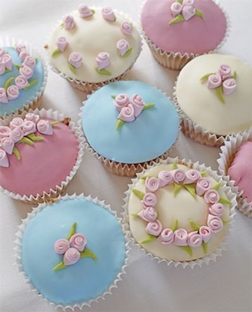 Pastel Birthday Party Dozen Cupcakes