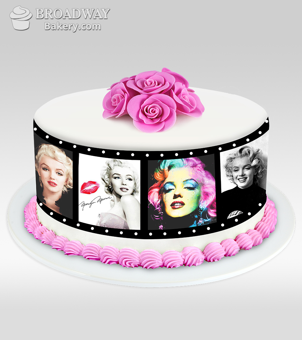 Red Velvet Photo Reel Cake