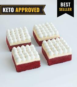 Keto Red Velvet Brownie By Broadway Bakery.