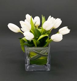 Serene White Tulip Bouquet