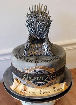 Iron Throne Cake