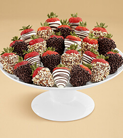 Nuts About Chocolate Covered Strawberries - Two Dozen