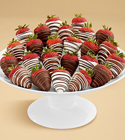 Swizzled Berries - Two Dozen Dipped Strawberries