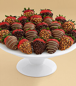 Devil's Kiss-Two Dozen Dipped Strawberries