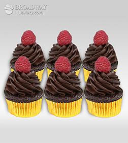 Sugarfree Chocolate Cupcakes - 6 Cupcakes