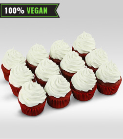 Vegan Red Velvet Cupcakes - Dozen Cupcakes