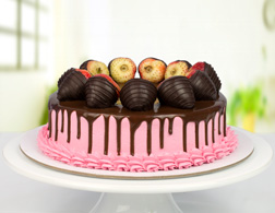 Sugarfree Strawberry Chocolate Cake - 1Kg