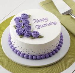Vivid Violet Roses Cake