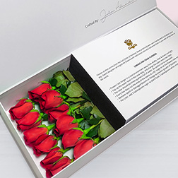 Soft Whispers - Long Stem Red Roses in White Box