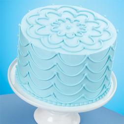 Stunning Strings Sky Blue Cake