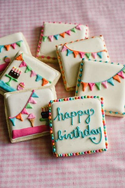 Birthday Buntings Cookies