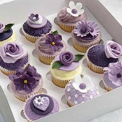 Lavender Luxury Dozen Cupcakes