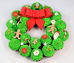 Christmas Wreath Dozen Cupcakes