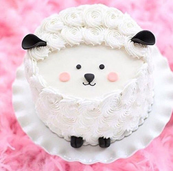 Peeking Sheep Eid Rosette Cake