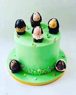 Flock of Friends Eid Cake