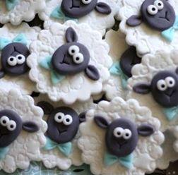 Dapper Sheep Cookies