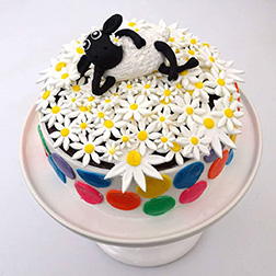 Daisy Meadows Sheep Cake