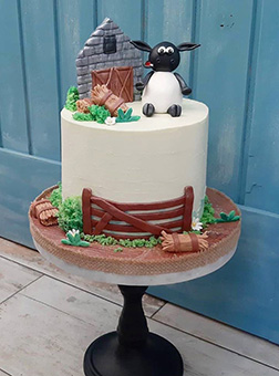 Playful Sheep Cake