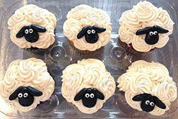 Sheep Themed Eid Cupcakes