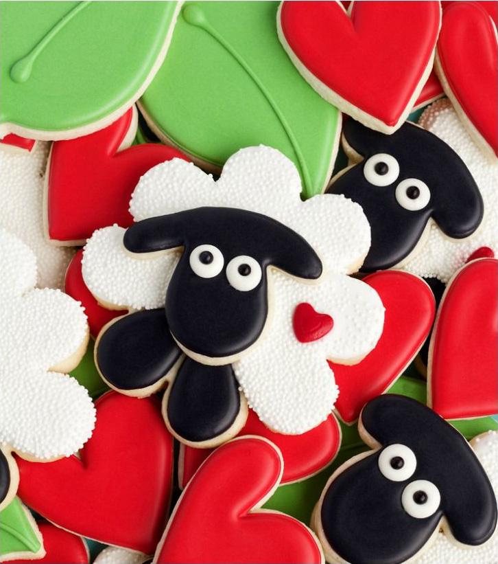Eid Sheeps & Hearts Cookies