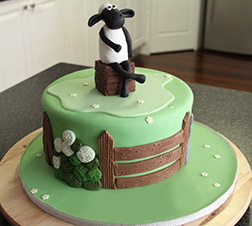 Lounging Sheep Cake