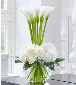 Luxury Calla Lily and Hydrangea Bouquet