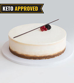1KG Keto New York Cheesecake By Broadway Bakery. Gluten Free, Sugar Free, Low Carb Dessert...