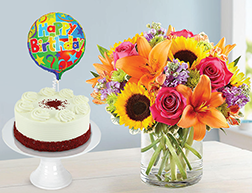 Surprise Sunshine Sugarfree Red Velvet Cake Bundle