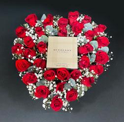 Precious Heart Bouquet with Burberry