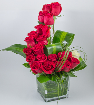 Red Roses Wave Bouquet