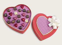 Chocolate Box Heart Cake With Annabelle Chocolates