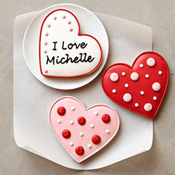 In Love With You Valentine's Cookies