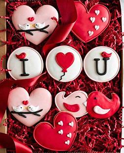 Lovebirds Valentine's Cookies