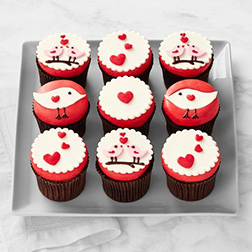 Two Birds in Love Dozen Cupcakes